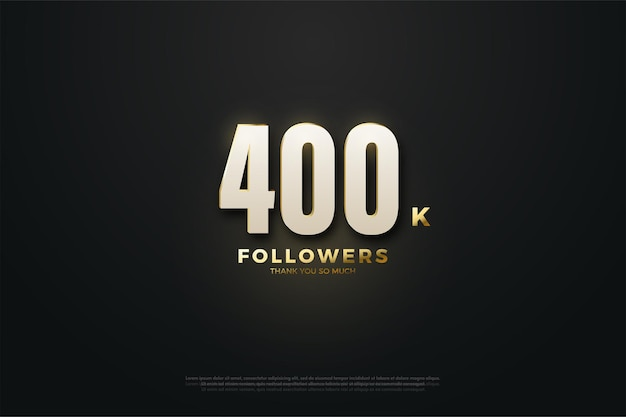 400k seguidores con brillantes números 3d
