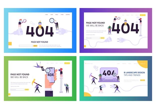 404 conjunto de errores de página de destino.