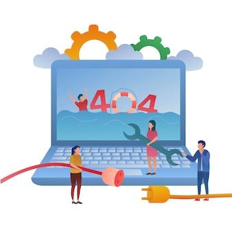 404 no encontrado ilustración conceptual
