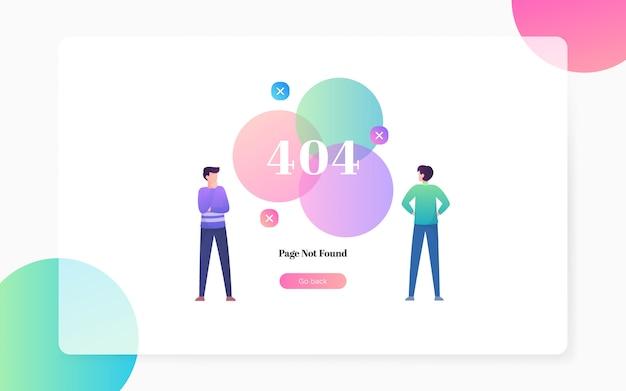 404 página no encontrada ilustración de página de aterrizaje