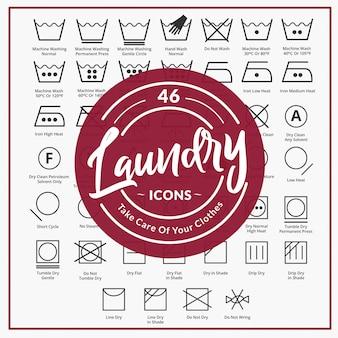 46 símbolo de lavandería