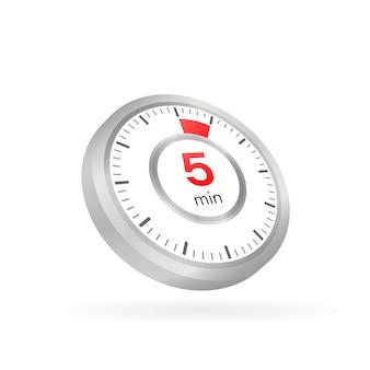 Los 5 minutos, icono de vector de cronómetro
