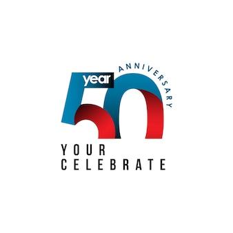 50 años aniversario vector plantilla diseño ilustración
