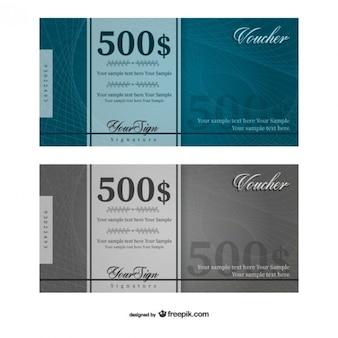 500 dólares plantilla bono vector