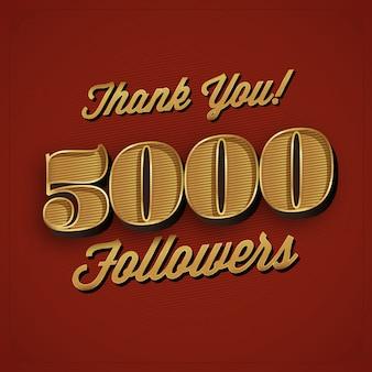 5000 seguidores diseño