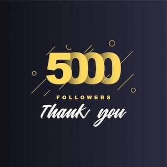 5000 seguidores gracias ilustración