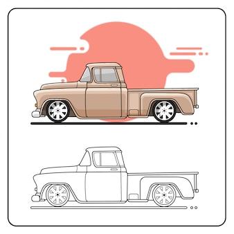 57 camion fácil editable