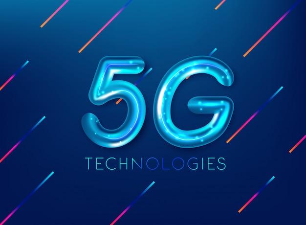 5g estándar de la tecnología de transmisión de señal moderna