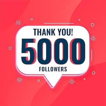 5k seguidores de las redes sociales gracias banner