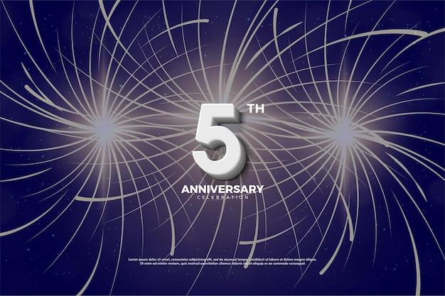 5to aniversario con fuegos artificiales