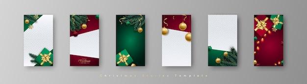 6 plantilla editable de moda navideña para historias de instagram