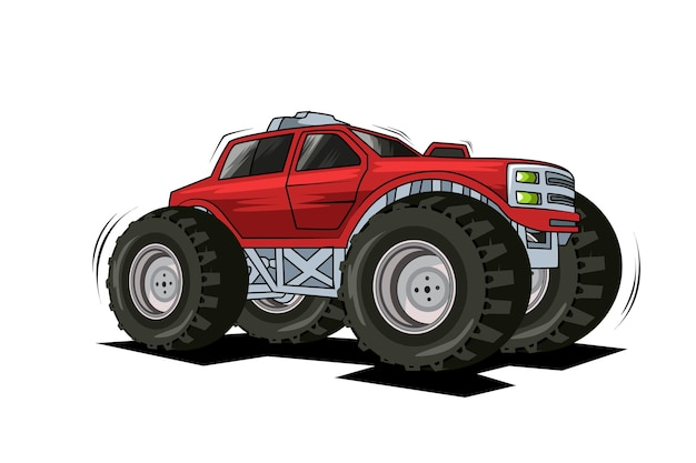 62. camión monstruo rojo