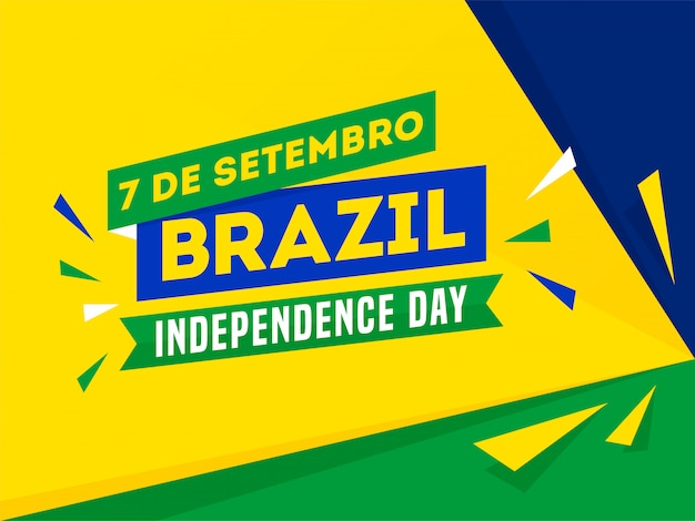 7 de setembro, banner del día de la independencia de brasil
