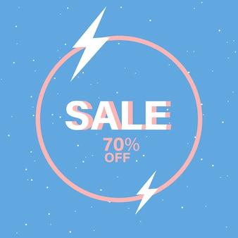 70% de descuento vector de venta de placa