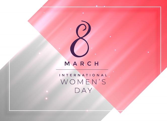 8 de marzo diseño de tarjeta del día de la mujer feliz