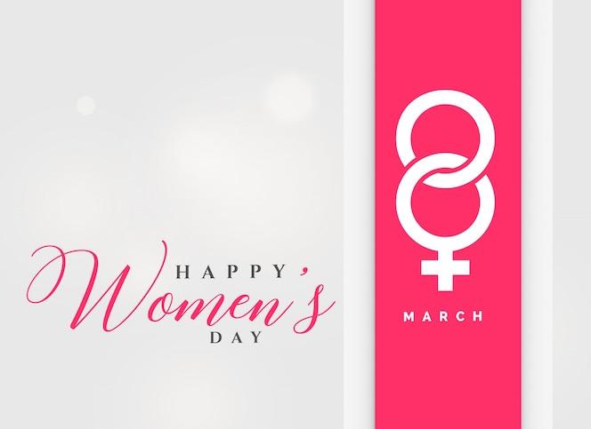 8 de marzo, fondo de celebración internacional del día de la mujer