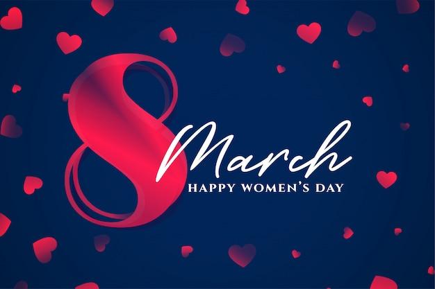 8 de marzo feliz día de la mujer elegante fondo