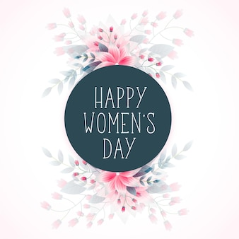 8 de marzo feliz día de la mujer flor desea saludo
