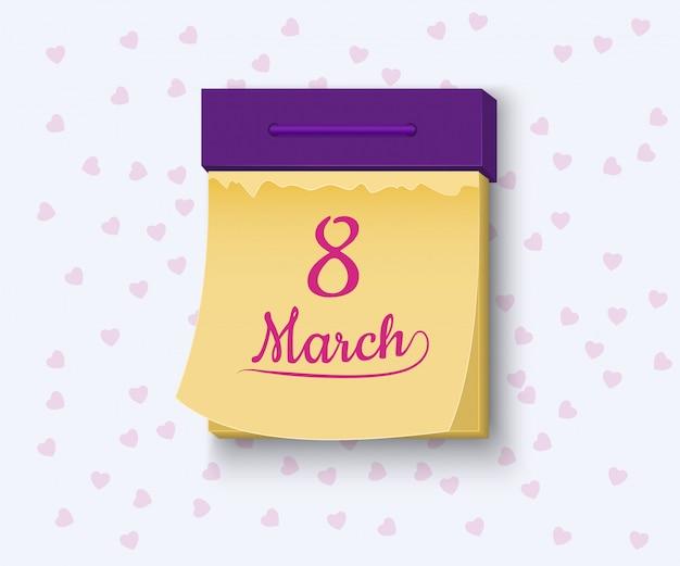 8 de marzo, ilustración del día internacional de la mujer