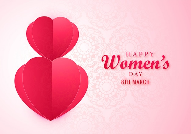 8 de marzo tarjeta de felicitación del día internacional de la mujer feliz