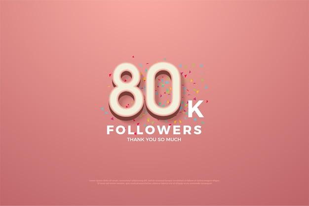 80k seguidores con figuras de doodle