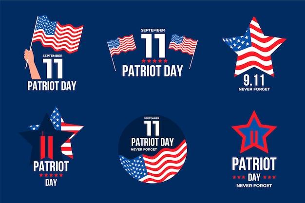9.11 colección de insignias del día del patriota
