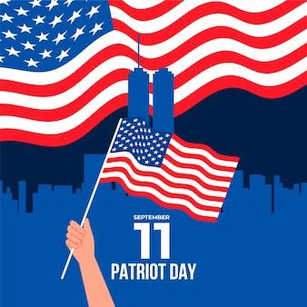 9.11 ilustración del día del patriota