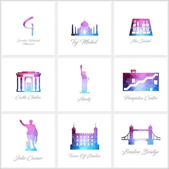 9 monumentos poligonales, colección