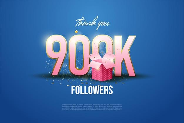 900k seguidores con figuras e ilustraciones de caja de menstruación