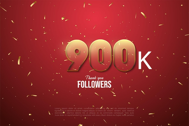 900k seguidores con figuras transparentes