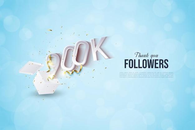 900k seguidores con la ilustración de la figura apareciendo