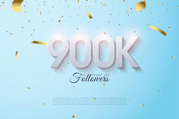 900k seguidores con números 3d