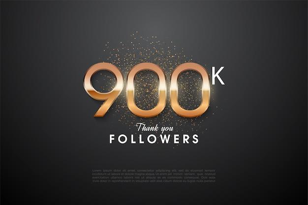 900k seguidores con números brillantes