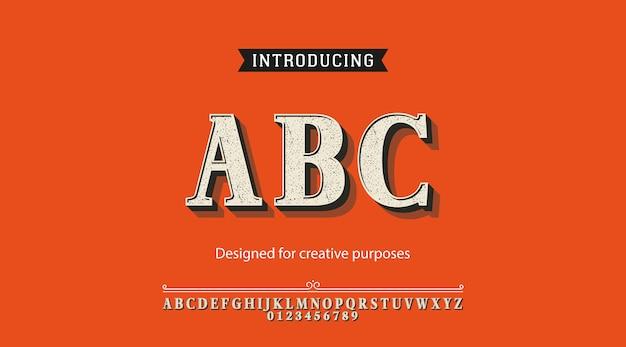 Abc tipo de letra. diseño tipográfico