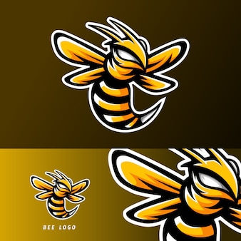Abeja animal esport gaming mascot logo