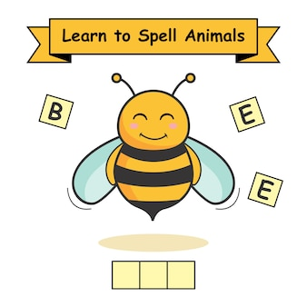 La abeja aprende a deletrear animales