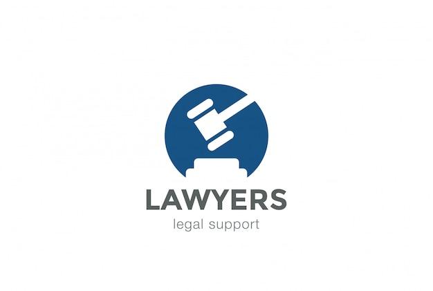 Abogado abogado legal bufete de abogados ícono del logotipo
