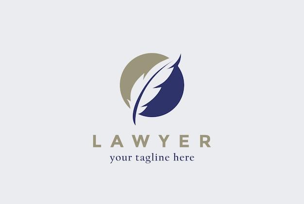 Abogado bufete de abogados ícono de logotipo.