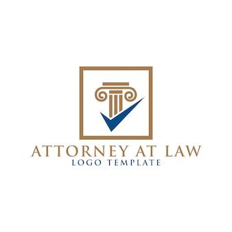 Abogado de elemento de pilar en diseño de logotipo de ley