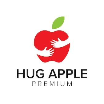 Abrazo apple logo icono vector plantilla