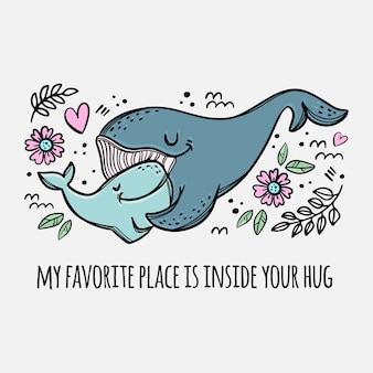 Abrazo de ballenas