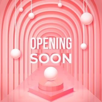 Abriendo pronto fondo 3d