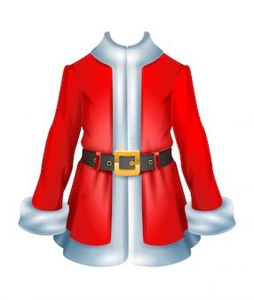 Abrigo de piel accesorio santa ropa navideña tradicional