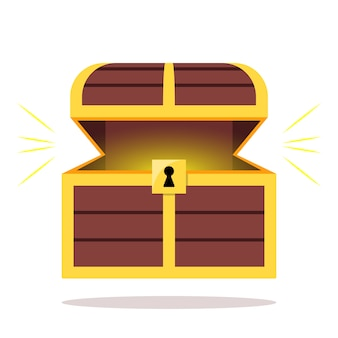 Abrir el cofre del tesoro de madera