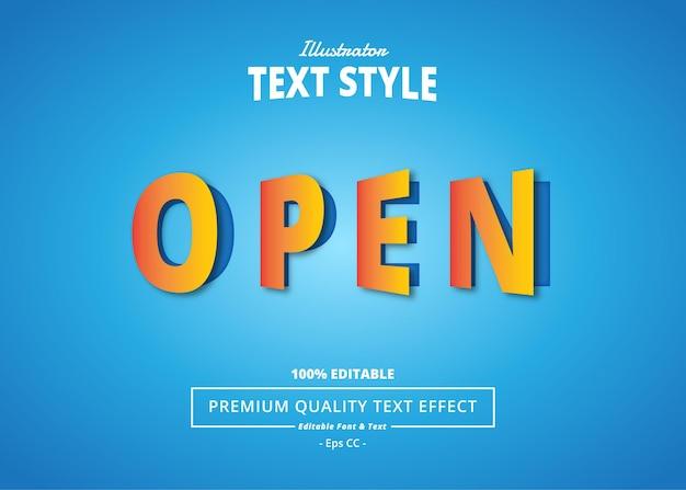 Abrir efecto de texto de illustrator