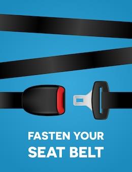 Abróchese el cinturón de seguridad - cartel de tipografía social