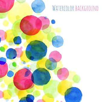Abstact fondo, acuarela pintada ronda salpicaduras colorida tarjeta de felicitación vector diseño muestra