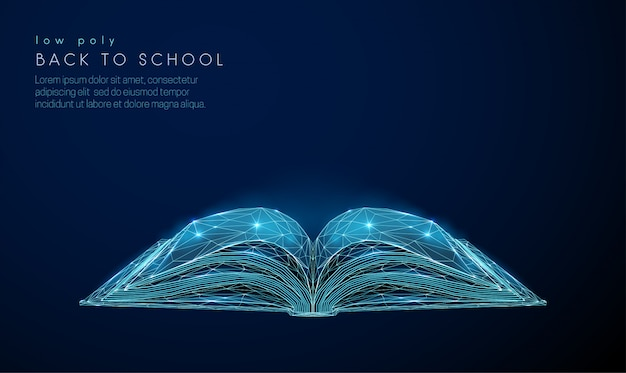Abstact libro abierto