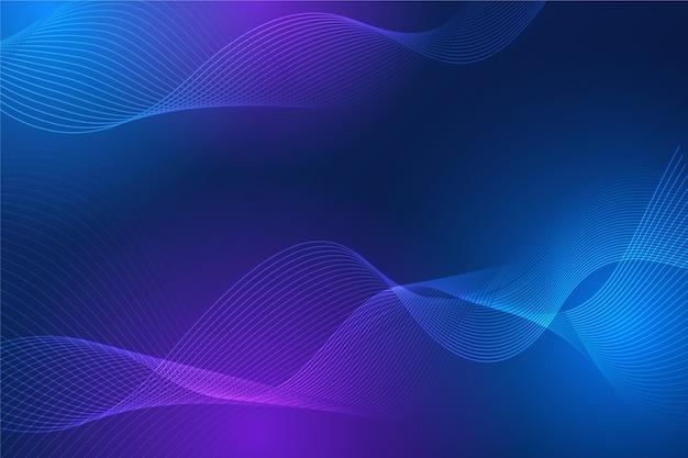 Abstracción ondulada de lujo en tonos degradados