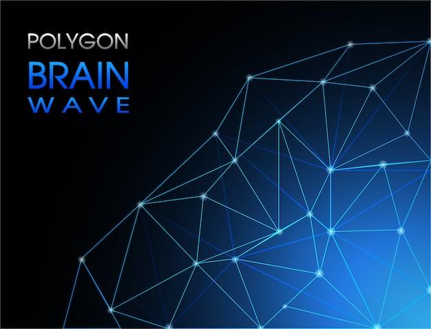 Abstrack fondo polígono de ondas cerebrales